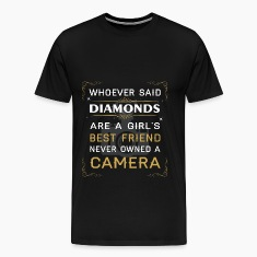 Photography T-shirt -Girl's best friend own camera