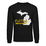 Long Sleeve Shirts ~ Men's Crewneck Sweatshirt ~ Oak Park MI