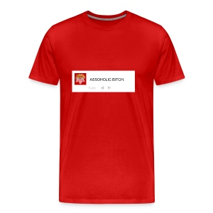 Men's Premium T-Shirt - 'F*CK YOU YOUR AN ASSOHOLIC B*TCH THUMBS UP ON THIS COMMENT IF YOU LIKE SONIC!'