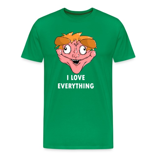 Men's Premium T-Shirt - Maybe you don't HATE EVERYTHING like I do, so why not choose the other extreme and show your blind love for everything with this tee.