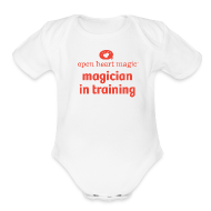 Baby Bodysuits ~ Baby Short Sleeve One Piece ~ Open Heart Magic Onesie