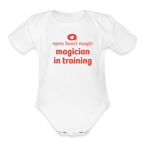 Open Heart Magic Onesie - Organic Short Sleeve Baby Bodysuit