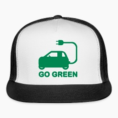 GO GREEN ~ DRIVE ELECTRIC VEHICLES Caps