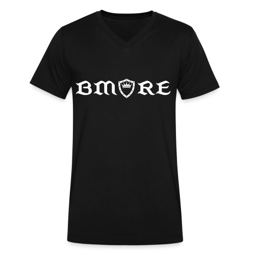 Mens Black Bmore Kings Sheild V-Neck - Men's V-Neck T-Shirt by Canvas