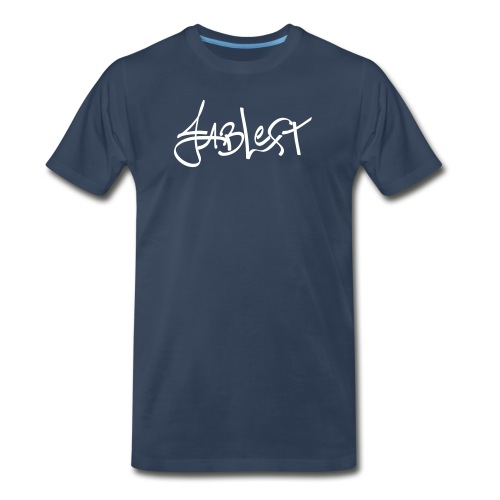 Mens White Signature Logo - Men's Premium T-Shirt