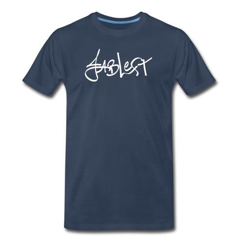 Mens White Signature Logo - Men's Premium T-Shirt