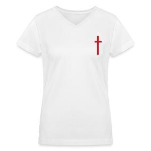 Christ 25 Women's V-Neck Tee (Front design shown) - Women's V-Neck T-Shirt