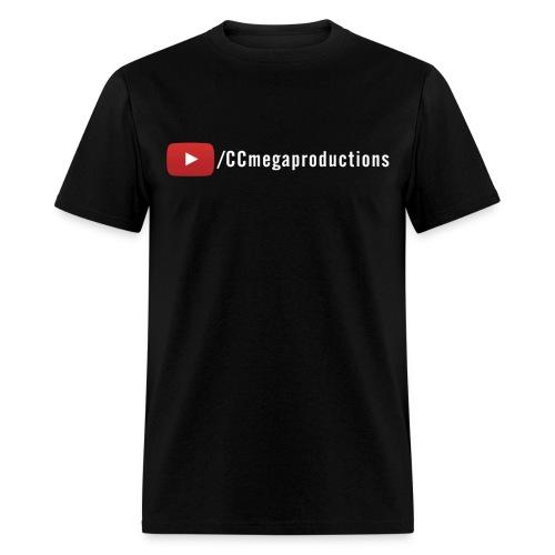 CCmega Standard Tee Youtube (White Text) - Men's T-Shirt