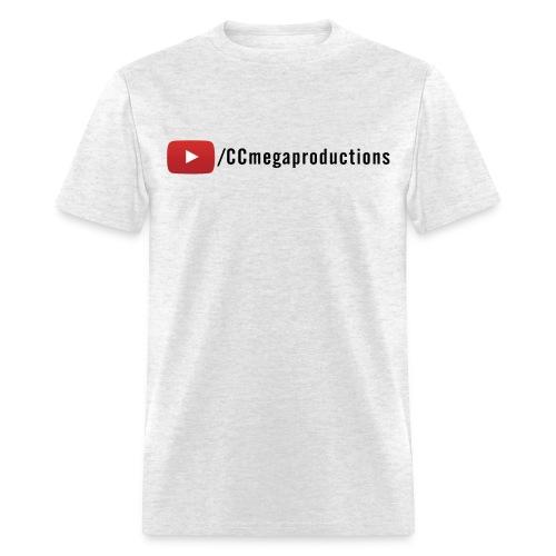 CCmega Standard Tee YouTube (Black Text) - Men's T-Shirt