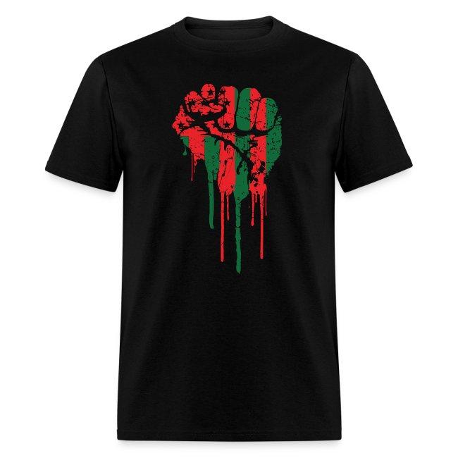 Redblackandtees Black Power Fist Tee Mens T Shirt
