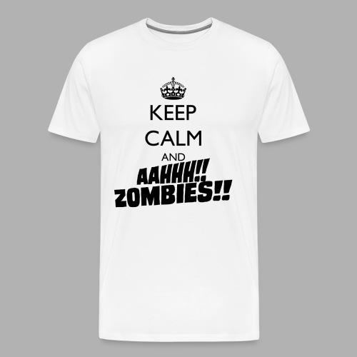 Keep Calm Zombies - Men's Premium T-Shirt