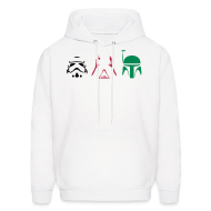Hoodies ~ Men's Hoodie ~ Star Wars - Stormtrooper, Darth Vader, Bounty Hunter