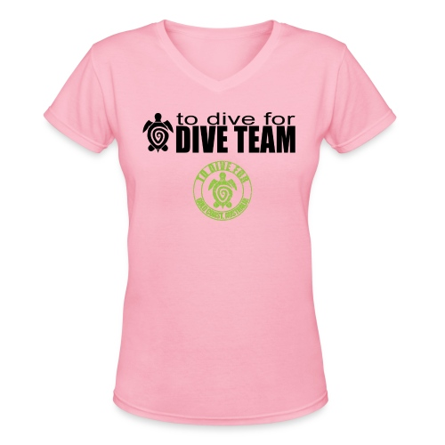 To Dive For smokey dive team T - Women's V-Neck T-Shirt