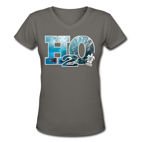 To Dive For smokey H20 T - Women's V-Neck T-Shirt