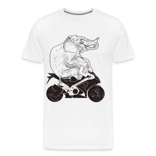 Elephant on Moto - Men's Premium T-Shirt