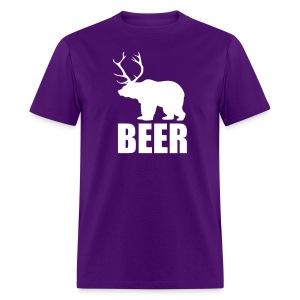BEER (Bear and Deer) - Men's T-Shirt