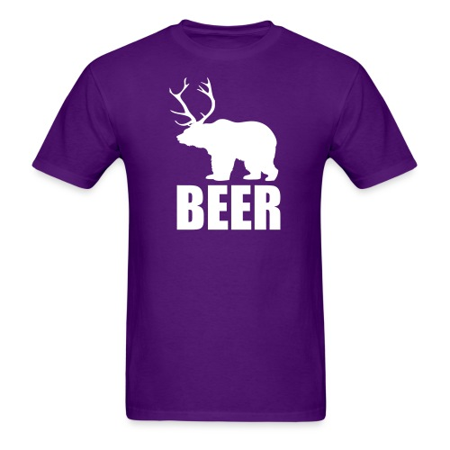 BEER (Bear and Deer) - Men's T-Shirt
