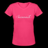 T-Shirts ~ Women's V-Neck T-Shirt ~ Sassenach Elegant