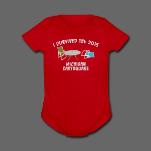 I Survived Michigan Earthquake - Short Sleeve Baby Bodysuit