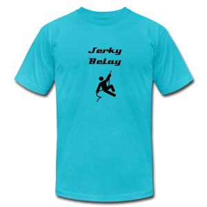 Jerky Belay - Men's T-Shirt by American Apparel