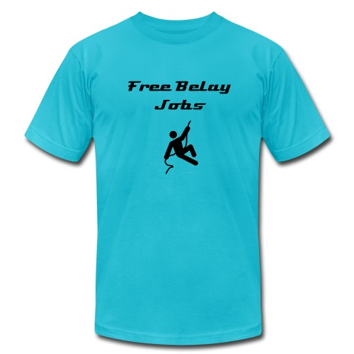 Free Belay Jobs - Men's Fine Jersey T-Shirt