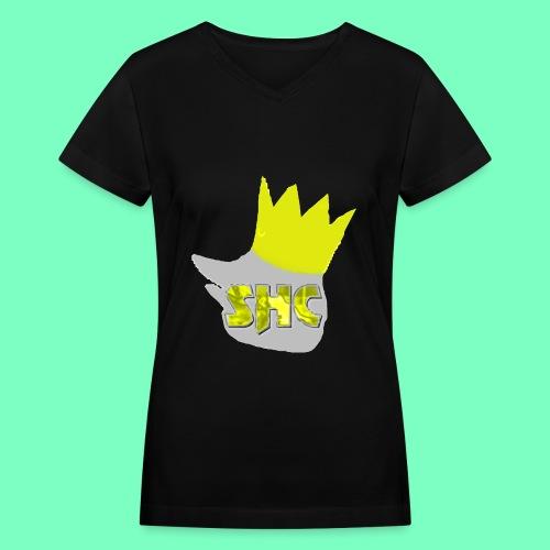 StrikerHero Camo Gold Edition Woman's Shirt - Women's V-Neck T-Shirt