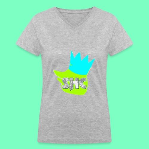 StrikerHero Camo Woman's Shirt  - Women's V-Neck T-Shirt