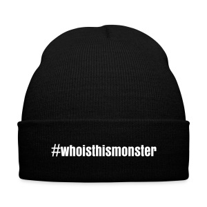 #whoisthismonster beanie - Knit Cap with Cuff Print