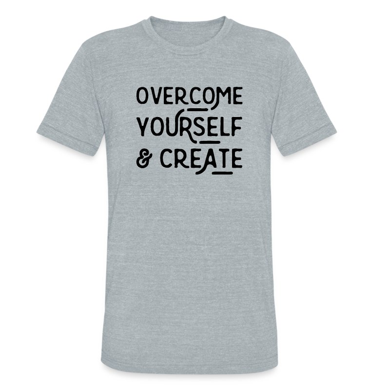 Overcome Yourself - Unisex Tri-Blend T-Shirt by American Apparel