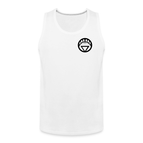 White Lantern on White Tank Small - Men's Premium Tank