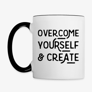 Overcome Yourself - Contrast Coffee Mug