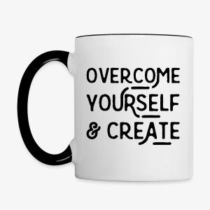 Overcome Yourself - Contrast Coffee Mug