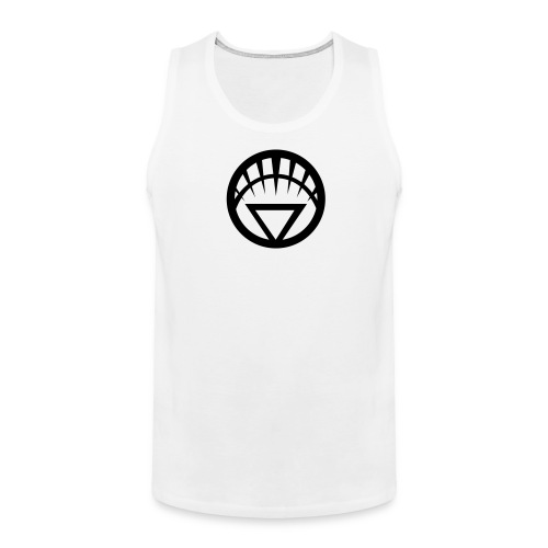 White Lantern on White Tank - Men's Premium Tank