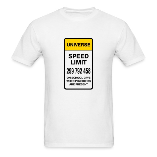 Speed limit of universe - Men's T-Shirt