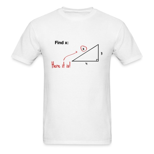 Find x - there it is! - Men's T-Shirt