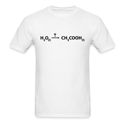 Jesus - water to wine - Men's T-Shirt