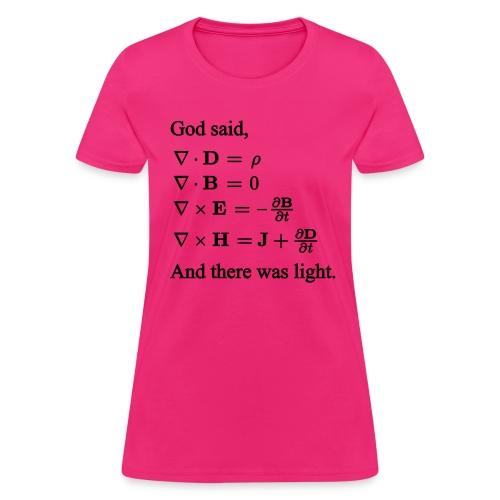 Maxwell Equations (F) - Women's T-Shirt