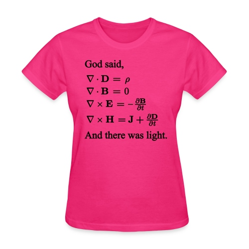 Maxwell Equations (F) - Women's T-Shirt
