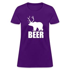 BEER (Bear and Deer) (F) - Women's T-Shirt