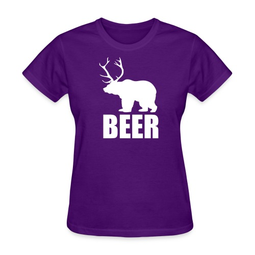 BEER (Bear and Deer) (F) - Women's T-Shirt