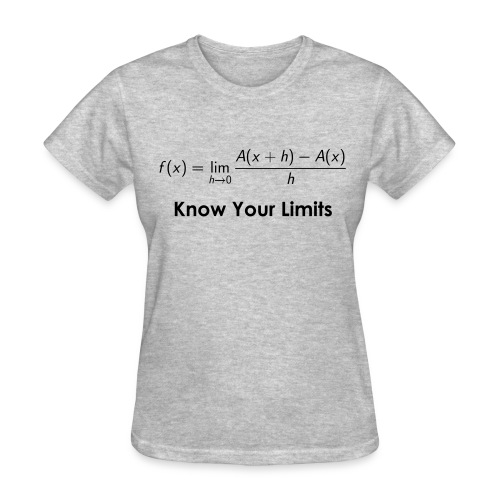 Calculus Limits (F) - Women's T-Shirt