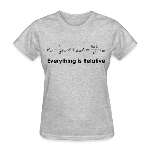 Relativity Equations (F) - Women's T-Shirt