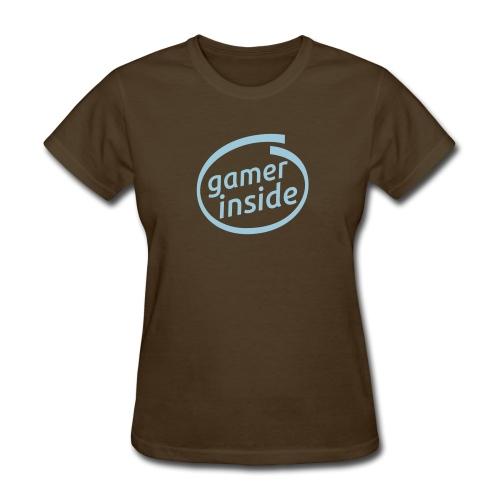Intel- Gamer Inside logo (F) - Women's T-Shirt