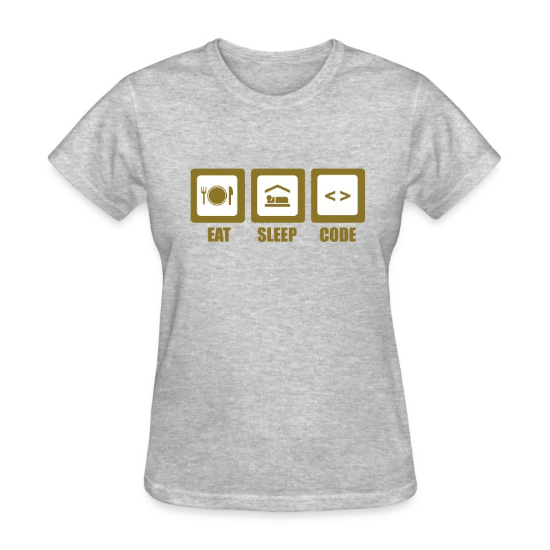Eat, Sleep, Code (F) - Women's T-Shirt