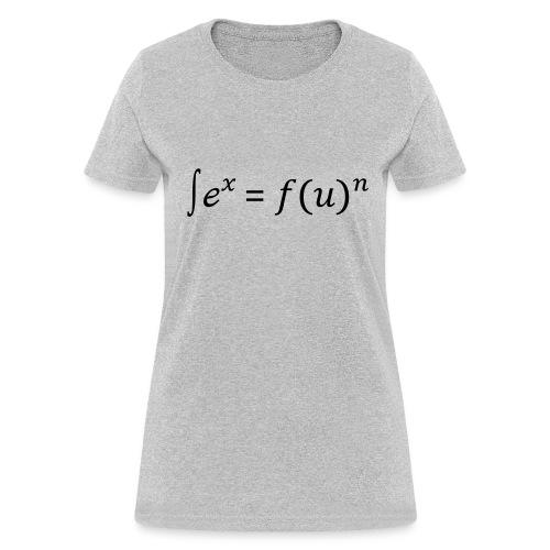 Sex = Fun written in math (F) - Women's T-Shirt