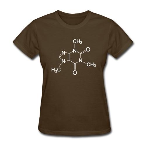 Caffeine Molecule (F) - Women's T-Shirt