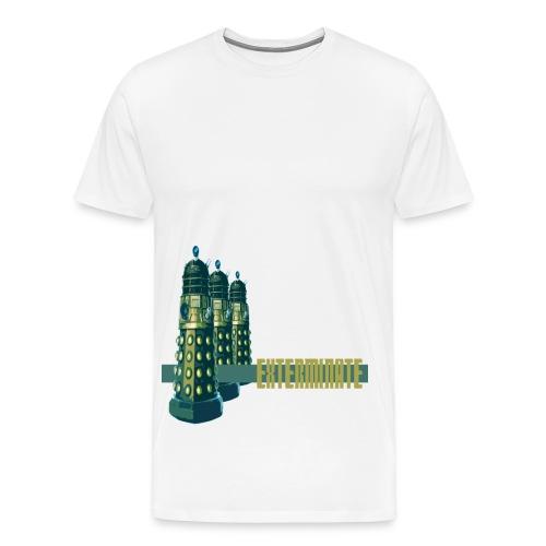 Men's Premium T-Shirt - Doctor who dalek tv series uk the doctor tardis police box tenant smith