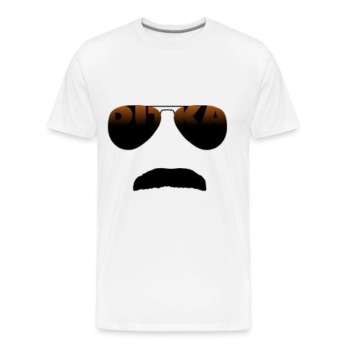 Mustache And Glasses White T-Shirt (Mens) - Men's Premium T-Shirt