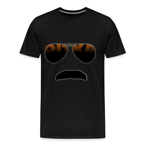 Mustache And Glasses Black T-Shirt! (Mens) - Men's Premium T-Shirt