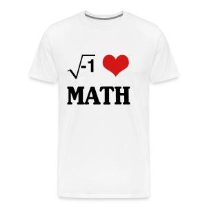 i heart math t-shirt - Men's Premium T-Shirt